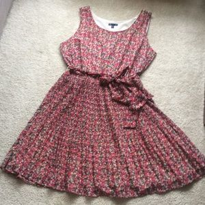 Gap Pink and Red Floral Dress